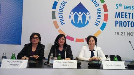 THE AWHHE NGO's participation in the 5th Meeting of the Parties to the Protocol on Water and Health, 19-21 November 2019